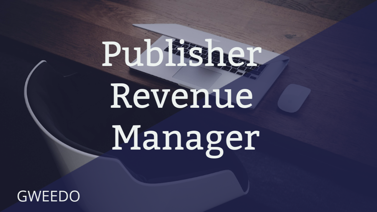 Gweedo Publisher Revenue Manager